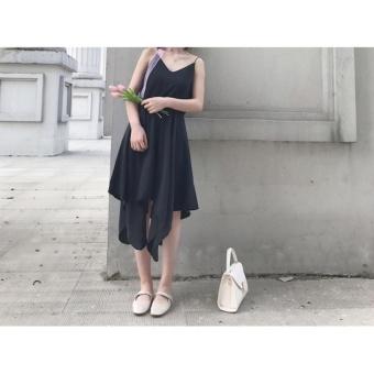 Váy 2 dây tà vuông cực lạ