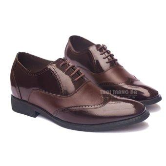 Giày da công sở CS20 (Nâu) tăng chiều cao 6,5 cm hoàn toàn bí mật