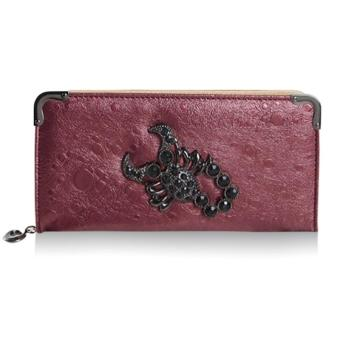 Trendy Scorpion and Rhinestones Design Women's Wallet - intl