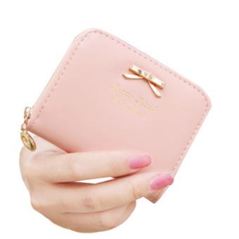 Women Mini Purse Wallet Money Holder Pink (Intl)