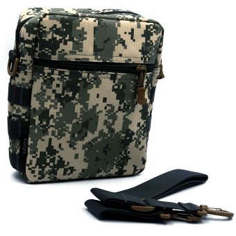 Men's Molle Camouflage Cross Body Bag Messenger Shoulder Satchel Sport Leisure Flap Handy Pouch Ultralight Range Tactical Army Gear ACU Camouflage - Intl