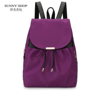 Lan-store Premium Quality Female Backpack--2017 New Women Drawstring Backpack Fashion School Lady Casual Bag School Bag (Purple) - intl