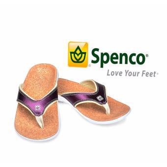 Dép nữ sức khỏe, hỗ trợ phòng tránh đau mỏi gót Spenco Metallic Violet