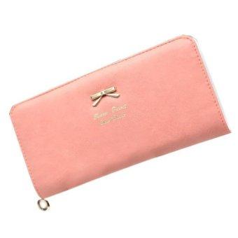 Women Clutch Long Bow Purse Wallet Card Holder Handbag Bag Watermelon Red - intl