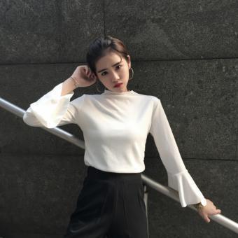 Áo kiểu nữ tay loe Trắng - A0033