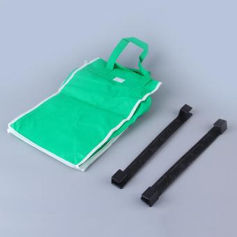 OH Allwin Reusable Durable Eco Bag Shopping Cart Tote-hooks on Cart-use Handles green - Intl - intl