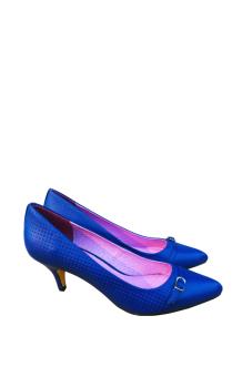 Giày cao gót Nóni nhọn (Xanh)