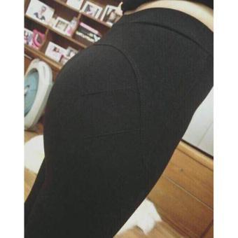 Bộ 2 Quần legging nâng mông (Đen)