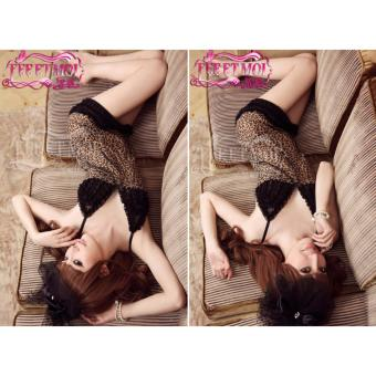 Bộ đồ ngủ nữ sexy 2899 chất liệu thun phối ren