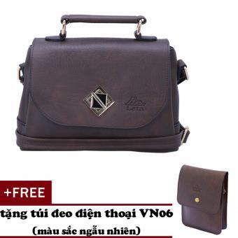 Túi đeo chéo nữ đa năng LATA HN30 (nâu)+ Tặng ví Vn06