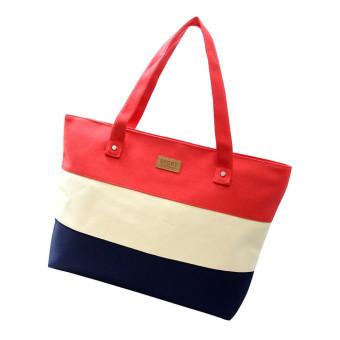 Women Canvas Handbags Shoulder Messenger Bags (Red)