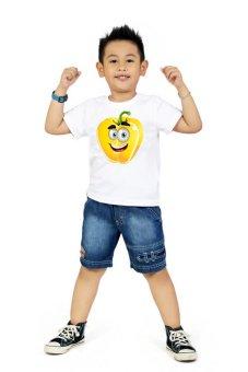 Áo thun bé trai Kỳ Khang BT04 (trắng)