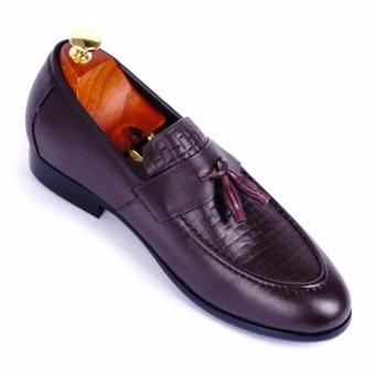 Giày tây nam da thật cao cấp Da Giày Việt Nam - VNLMT20VCT12N (Nâu)