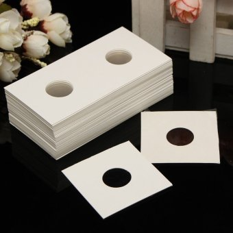 50Pcs Assorted Stamp Coin Holders Cardboard Storage Paper Case 17.5 - intl