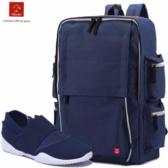 Combo Balo Thời Trang Glado BLG056BU + Giày Sneaker GS065BU (Xanh) - CB015
