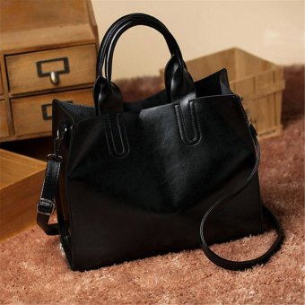 Women Ladies Leather Bag Handbag Purse Messenger Shoulder Crossbody Bag Tote HOT black - intl