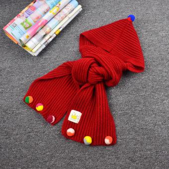 Khăn Mũ Len 2 In1 Xì Tai Cho Bé Gái (Đỏ)