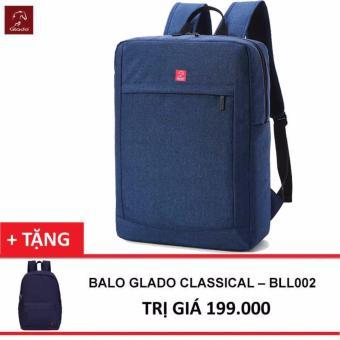 Balo Thời Trang Glado Cylinder BLC011 (Xanh) + Balo Classical - Hãng Phân Phối Chính Thức