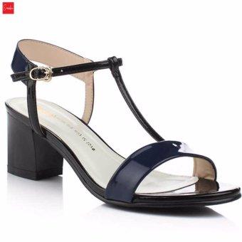 Giày Sandal Nữ Gót Vuông Erosska - SD002 ( Màu Xanh Đen)