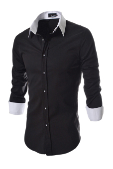 Reverieuomo CS29 Single-Breasted Shirt Black - Intl