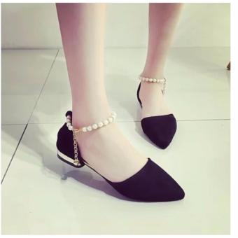 Giày búp bê bệt dây ngọc trai S109