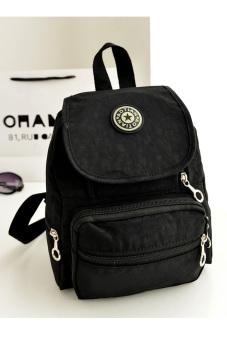 Nylon leisure Backpack (Black)
