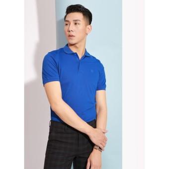 Áo phông polo xanh cô ban