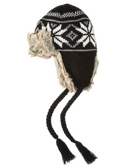 Mũ (nón) len nữ La Fiorentina Women's Knit Trapper Hat with Faux Fur and Tassels (Mỹ)