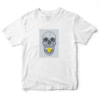 Áo Thun Skull and Happy Emoticon Suvi SuviTF00148 (Trắng)