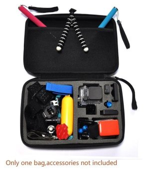 Linemart Large Protective Shockproof Carry Bag Case for Gopro HD Hero 3 2 1 3 + Accessories ( Black ) - intl