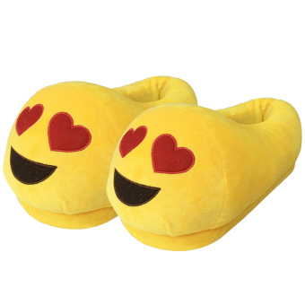 Women Cartoon Face Expression Style Winter Indoor Plush Slipper Soft Warm Plush Slippers Average Size for CN 36-40 / EU 36-40 / US 5-9 Style B - intl