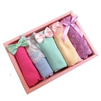 Hộp 5 quần lót cotton nữ (5 màu) Olivin LA107