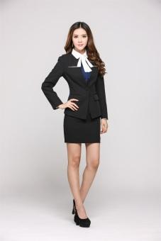Bộ vest nữ và chân váy công sở (Đen) CXXZ8099-2