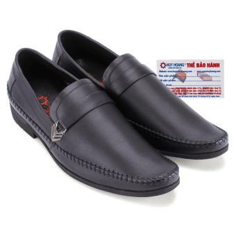 HL7708 - Giày tây Huy Hoàng đan viền màu đen