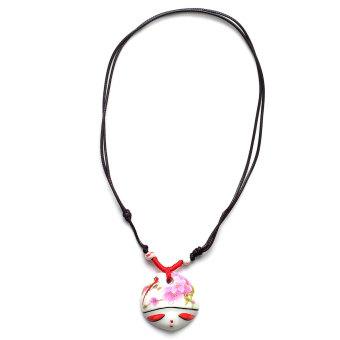 Dây đeo cổ mặt bằng sứ cao cấp (Đỏ)