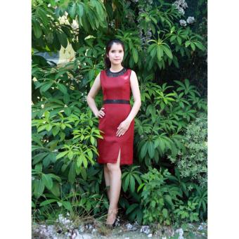 Đầm body nơ lưng đỏ Cocoxi 18DT12