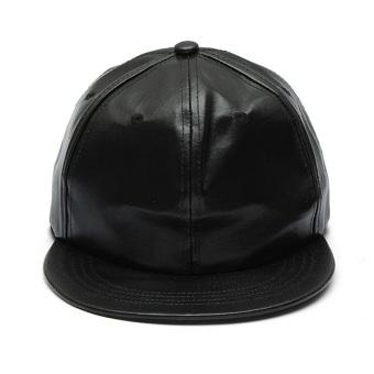 Man Women Artificial Leather Baseball Caps Hiphop Hats Dancing Visors Snapback Outdoor Sun Caps - Intl