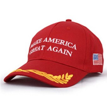 LALANG Fashion Men Baseball Cap Letter Printed Sun Hat 1# (Red) - intl