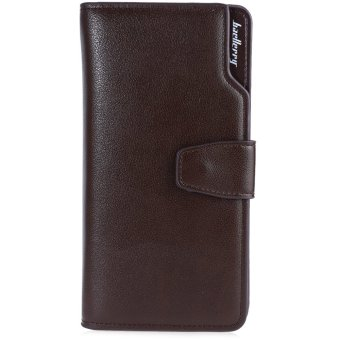 Baellerry Three-folded Long Wallet Leather Multifunctional Credit Card Purse for Men - intl