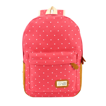 Women's Canvas Travel Backpack(Watermelon red) - intl