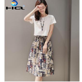 Set Đầm Kèm Áo Ngắn Tay Thời Trang Phong Cách Hàn Quốc HQ 3TI93