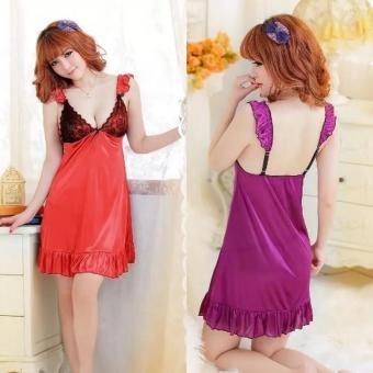 Đầm ngủ satin (Đỏ)