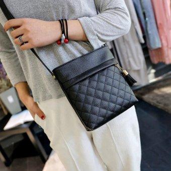 New Fashion Women PU Leather Handbag Tassel Messenger Shoulder Crossbody Bag - intl