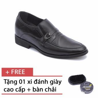 Giày lười công sở đính huy hiệu sắt SMARTMEN (Đen) H18, tặng kèm 1 bàn chải và xi cao cấp