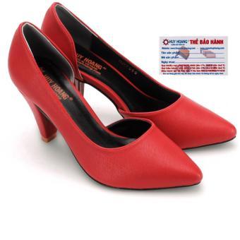 HL7087 - Giày nữ Huy Hoàng cao cấp xẻ hông đế 7cm màu đỏ