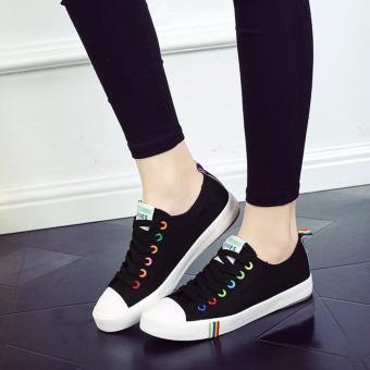 Giày thể thao màu đen nút nhiều màu TT132