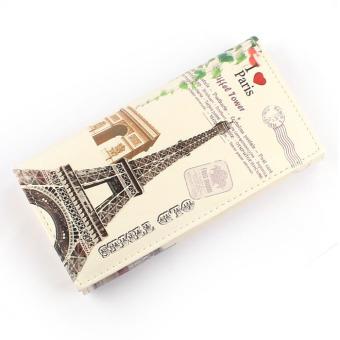 Love Tower Pattern Women Long Purse Clutch Wallet Bag Card Holder