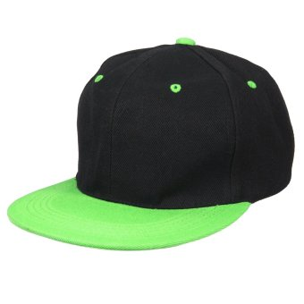 Fashion Men Women Baseball Snapback Hat Hip-Hop Hunting Cap Sport Hat Adjustable Black-green - intl