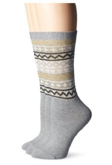 Bộ 2 đôi tất casual nữ Timberland Women's Fair Isle Crew Boot Sock 2-Pack (Mỹ)