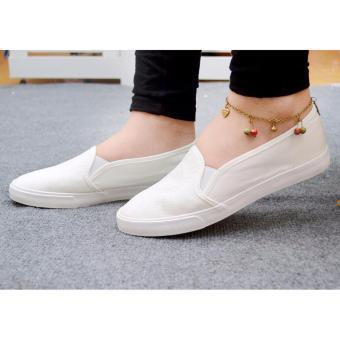 Giày lười vải nữ đế êm - TiLaMi - VSV003 (trắng)